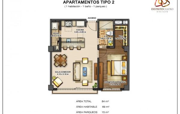 Edificio 4 – Apartamento Tipo 2