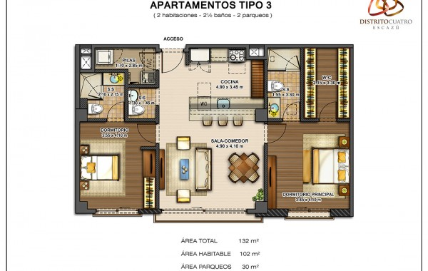 Edificio 4 – Apartamento Tipo 3