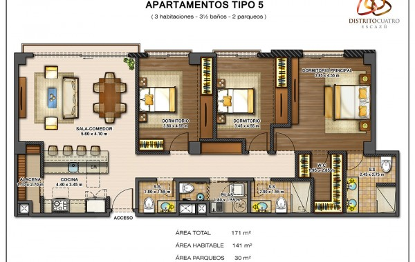 Edificio 4 – Apartamento Tipo 5