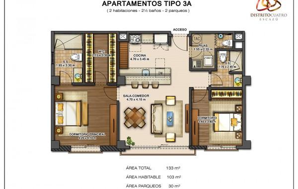 Edificio 4 – Apartamento Tipo 3A