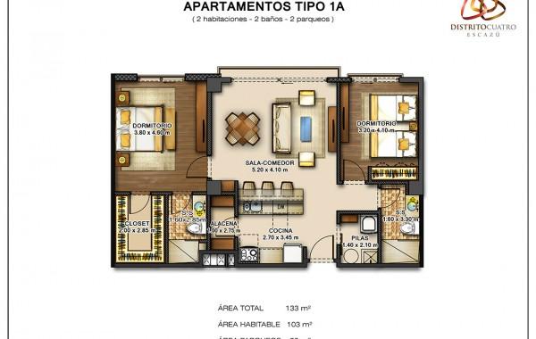 Edificio 5 – Apartamento Tipo 1A