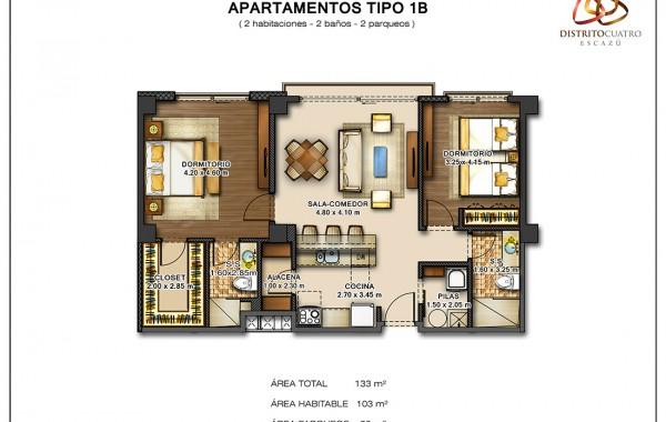 Edificio 5 – Apartamento Tipo 1B