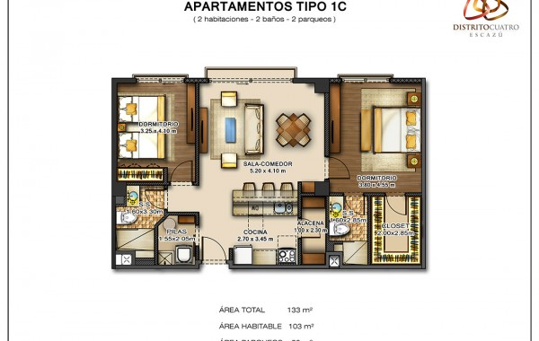Edificio 5 – Apartamento Tipo 1C