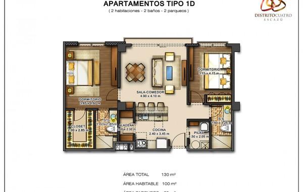 Edificio 5 – Apartamento Tipo 1D