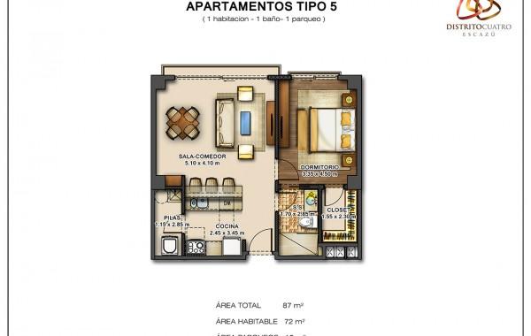 Edificio 5 – Apartamento Tipo 5