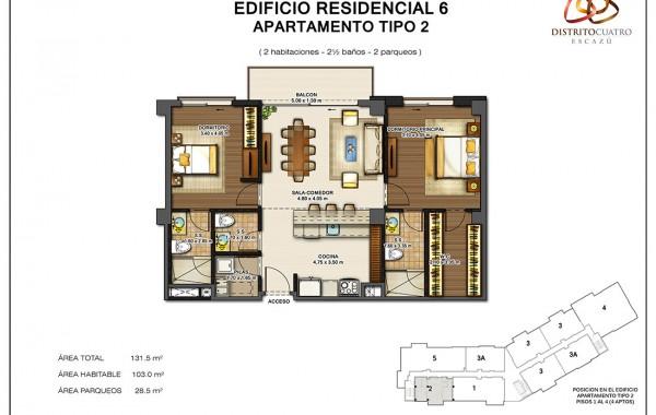 Edificio 6 – Apartamento Tipo 2