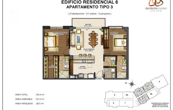 Edificio 6 – Apartamento Tipo 3