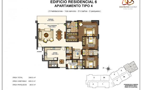 Edificio 6 – Apartamento Tipo 4