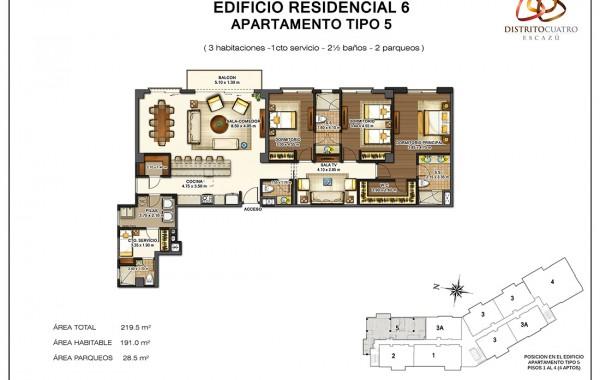 Edificio 6 – Apartamento Tipo 5